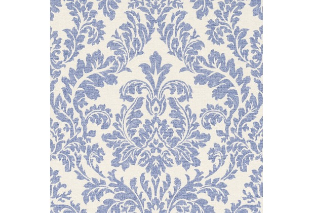 Rasch florentine ornament 449013 blau creme for Tapete ornament blau