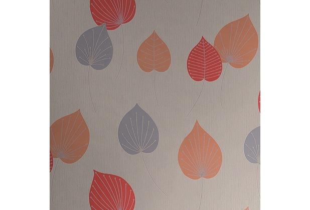 Rasch papiertapete 308235 beige grau rot silber for Tapete rot silber