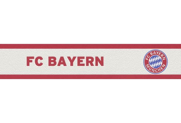 Kinderzimmer Tapeten M?nchen : Rasch Vliesbord?re, FC Bayern M?nchen, Borte wei?, rot Hertie.de