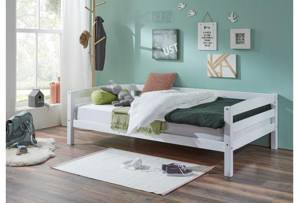 Etagenbett Ohne Lattenrost : Relita einzelbett nora in buche massiv weiß lackiert liegefläche