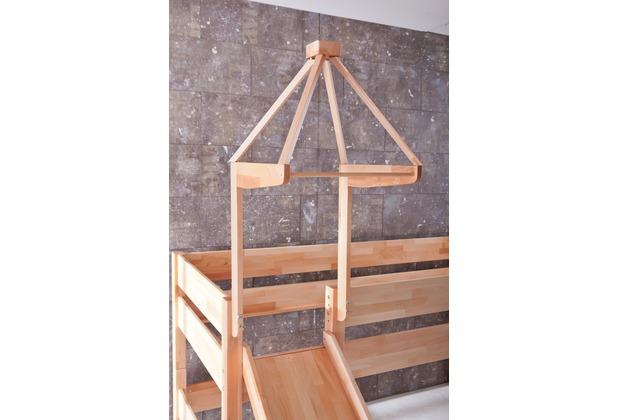 relita halbhochbett kim mit rutsche turm lackiert natur. Black Bedroom Furniture Sets. Home Design Ideas