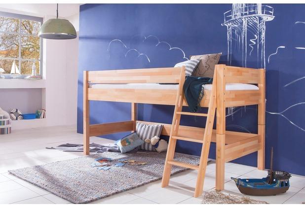Kinderzimmer rutsche turm spielbett alex buche massiv for Kinderzimmer halbhochbett