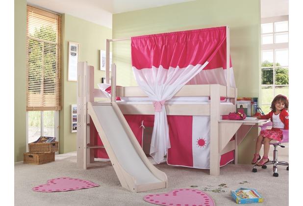 relita spielbett leo 90x200 mit schr ger rutsche white. Black Bedroom Furniture Sets. Home Design Ideas