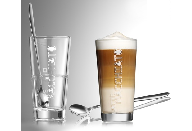 flirt by r b 2er latte macchiato glas konisch 350ml klar. Black Bedroom Furniture Sets. Home Design Ideas
