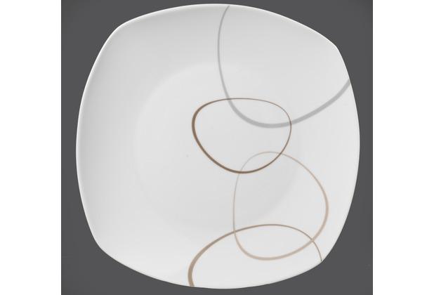 flirt by r b teller flach porzellan 26x26x2cm eckig alina braun grau. Black Bedroom Furniture Sets. Home Design Ideas