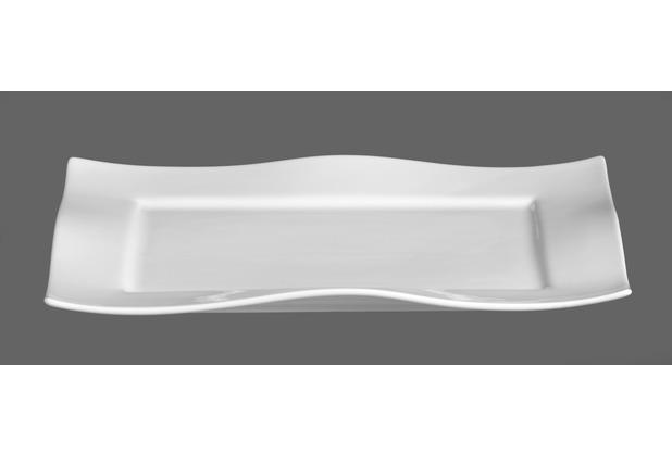 via by r b platte porzellan 35x26x3cm eckig sinfonia wei. Black Bedroom Furniture Sets. Home Design Ideas