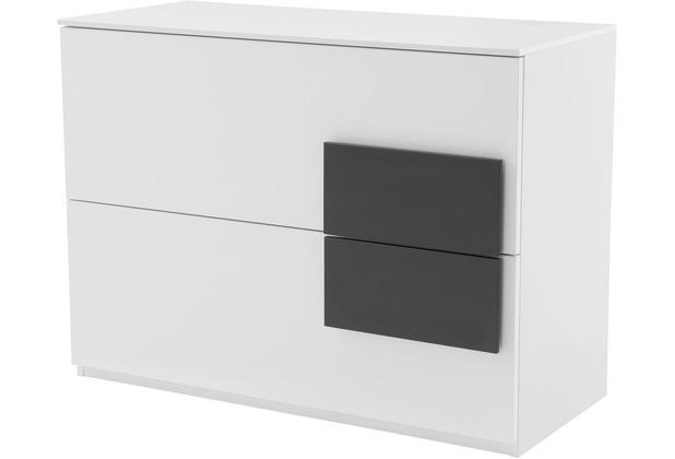 Rohr Sideboard Weiss 100x74x46 Cm Applikation Anthrazit Hertie De