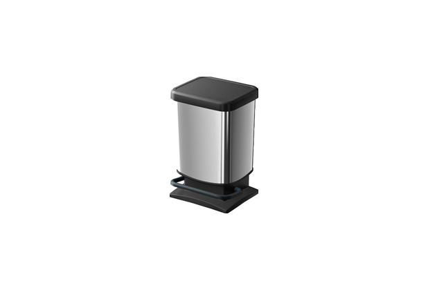 rotho treteimer paso 20 0l metallic look. Black Bedroom Furniture Sets. Home Design Ideas