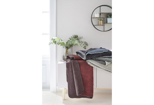 s oliver jacquard decke jeans 150 x 200 cm. Black Bedroom Furniture Sets. Home Design Ideas