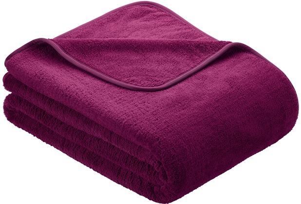 s oliver uni mikrofaser decke wellsoft purpur 150 x 200 cm. Black Bedroom Furniture Sets. Home Design Ideas