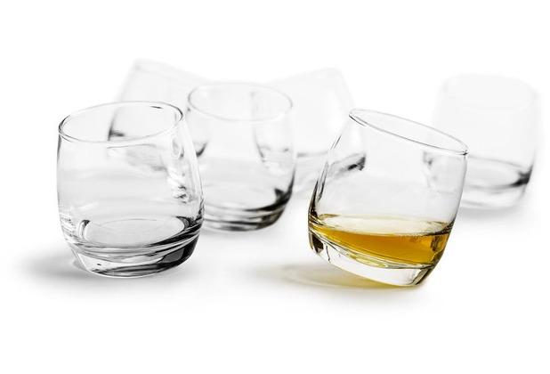 sagaform Bar Whiskey Gläser mit abgerundetem Boden, 6-pack MIT ...