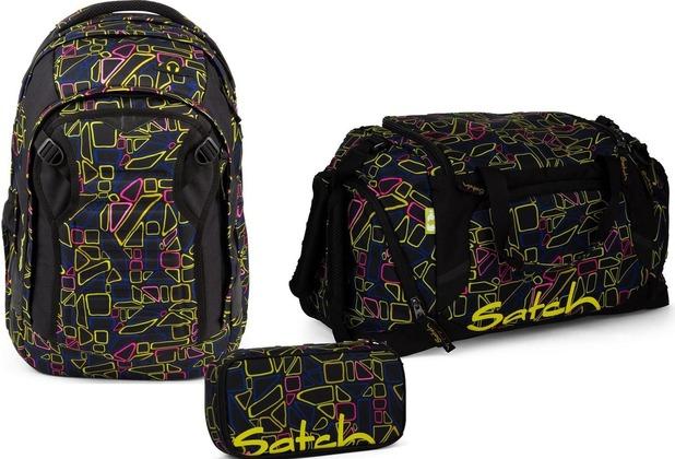 70378e5a4bacc satch Schulrucksack-Set 3-tlg Match Disco Frisco 9K5 disco frisco ...