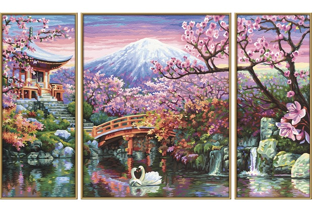 Schipper Malen Nach Zahlen Kirschblute In Japan Triptychon