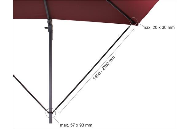 Schneider Schirme Ampelschirm Windsicherung