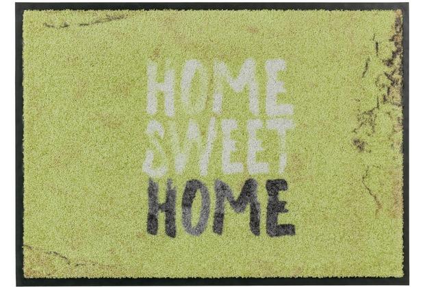 sch ner wohnen fussmatte broadway home sweet home gr n. Black Bedroom Furniture Sets. Home Design Ideas