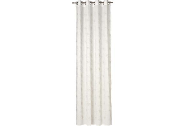 sch ner wohnen senschal stickflower natur 140x250cm. Black Bedroom Furniture Sets. Home Design Ideas