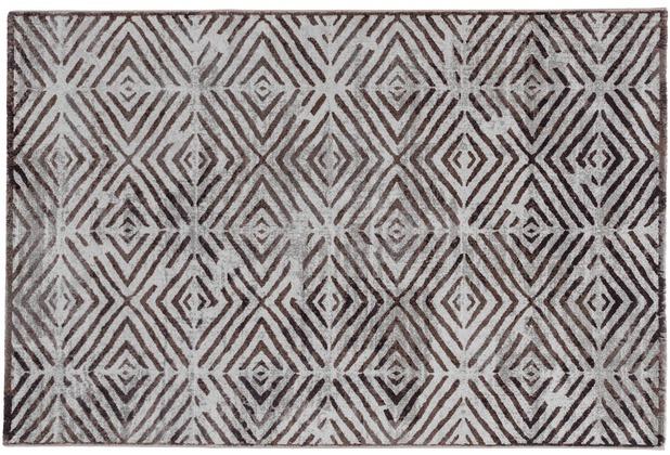 Schoner Wohnen Teppich Brilliance Design 182 Farbe 017 Raute Lila