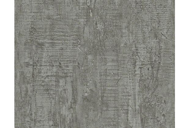 schöner wohnen uni-, strukturtapete, tapete, braun, grau | hertie.de, Wohnzimmer