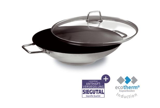 schulte ufer wok wega 34cm 4 5l edelstahl mit deckel. Black Bedroom Furniture Sets. Home Design Ideas
