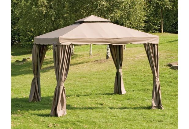 siena garden ersatzdach zu pavillon dubai mocca polyester 200g m l 300 x b 300 cm. Black Bedroom Furniture Sets. Home Design Ideas