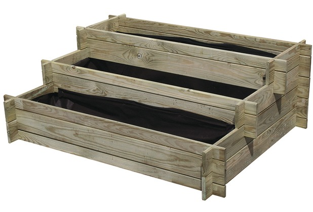 forest style hochbeet dreistufig nikole 100x75x40cm. Black Bedroom Furniture Sets. Home Design Ideas