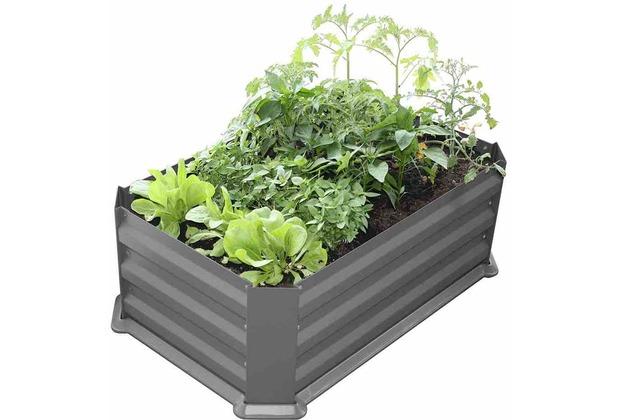 Siena Garden Hochbeet Mit Boden 80x50x30cm Grau Hertie De