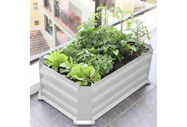 Siena Garden Hochbeet Mit Boden 80x50x30cm Vintage Weiss Hertie De