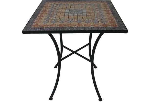 Siena Garden Prato Tisch Eckig 60x60 Eisen M Mosaikoptik Hertie De
