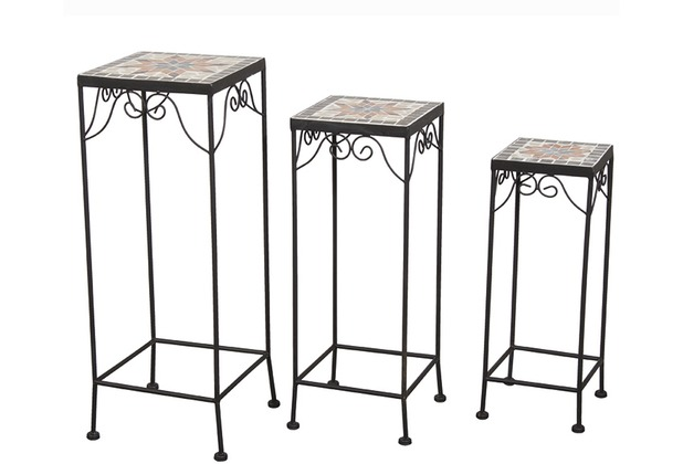 Blumenhocker metall schwarz bestseller shop f r m bel for Beistelltisch metall eckig