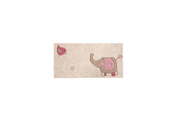 Sigikid Kinder Teppich, Happy Zoo, Elephant SK-3342kl beige   Hertie.de