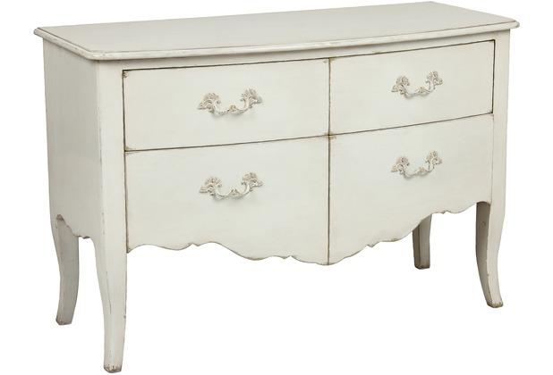 SIT-Möbel COUNTRY CORNER Kommode 4 Schubladen weiß lackiert mit ...