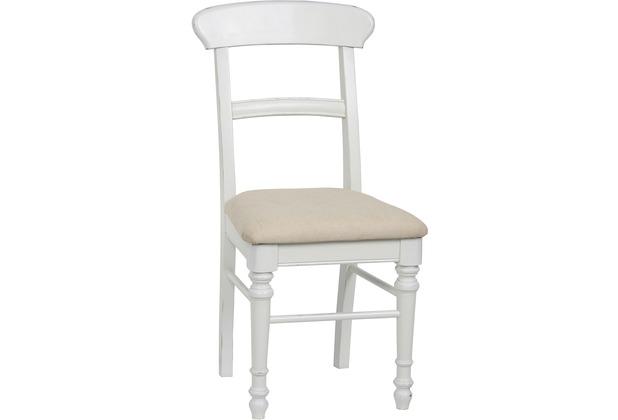SIT-Möbel COUNTRY CORNER Stuhl, 2er Set Polstersitz weiß lackiert ...