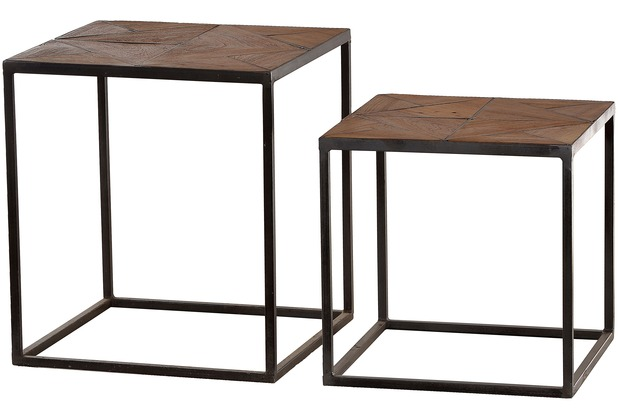 sit m bel cross beistelltisch holz natur lackiert metall antik grau. Black Bedroom Furniture Sets. Home Design Ideas