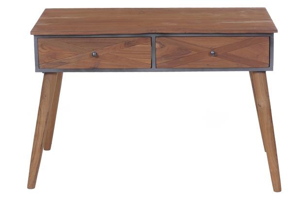 Außergewöhnlich SIT-Möbel CROSS Schreibtisch 2 Schubladen Holz natur, lackiert &BT_86