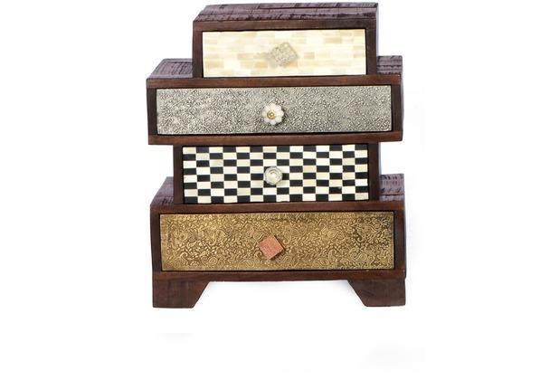 sit m bel ebony kommode 4 schubladen auf rollen braun. Black Bedroom Furniture Sets. Home Design Ideas