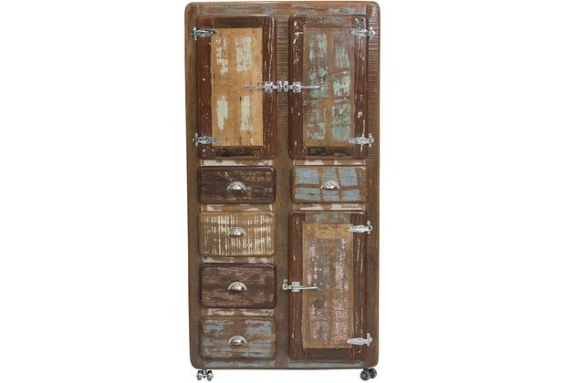 Möbel Bunt sit möbel fridge schrank 3 türen 5 schubladen auf metallrollen