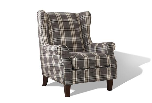 SIT-Möbel SIT&CHAIRS Ohrensessel Füße abmontiert Füße braun, Bezug ...