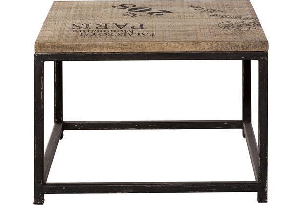 Couchtisch antik schwarz  SIT-Möbel TASTE OF INDIA Couchtisch quadratisch Platte natur ...