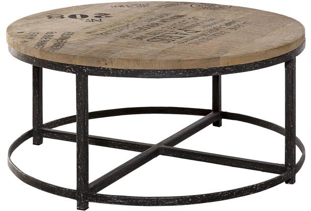 Couchtisch antik schwarz  SIT-Möbel TASTE OF INDIA Couchtisch rund Platte natur, Gestell ...