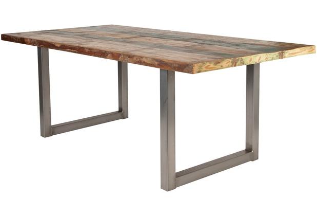SIT-Möbel TISCHE Tisch 160x85 cm, buntes Altholz Platte bunt ...