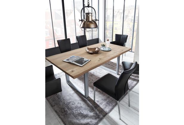 Sit Mobel Tische Tisch 180x90 Cm Wildeiche Silbernes Gestell Mit