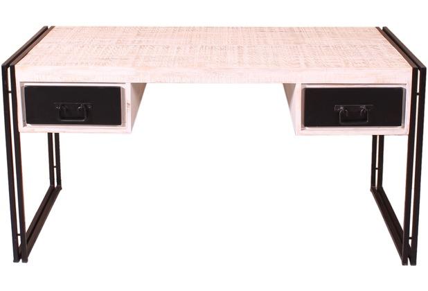 SIT-Möbel White Panama Schreibtisch 2 Schubladen weiß mit ...