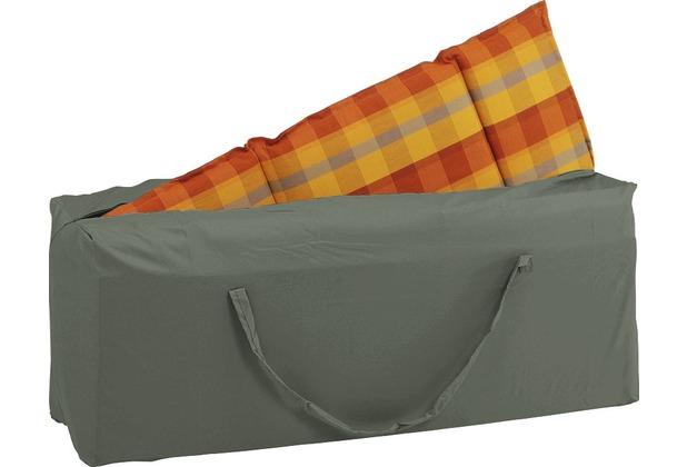 stern aufbewahrungstasche f r auflagen 125x32x50 cm mit rei verschluss 100 polyester grau. Black Bedroom Furniture Sets. Home Design Ideas