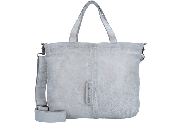 Shopper Tasche Leder 38 cm light grey Taschendieb vNBuVPO1KN