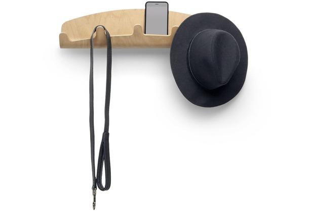 Design Garderobe Mdf Holz Chinese Door ~ umbra Woodrow 5 Hook natur Holz mit Ablage bei Hertie kaufen