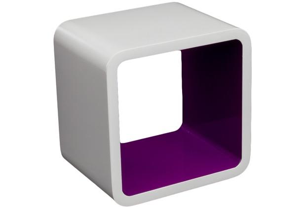 vcm 1 tlg regal cube wand w rfel h ngeregal wei. Black Bedroom Furniture Sets. Home Design Ideas