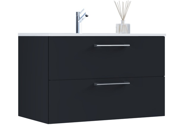 vcm 2 tlg waschplatz badm bel badezimmer set waschtisch waschbecken badblock tenas breite 80. Black Bedroom Furniture Sets. Home Design Ideas
