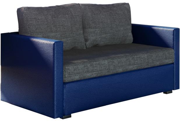 Vcm 2er Schlafsofa Sofabett Couch Sofa Mit Schlaffunktion Sinsa Blau 60 X 122 X 78 Cm Blau Grau