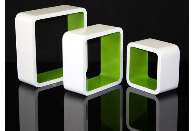 vcm 3 tlg regal cube blau wand h ngeregal retro stand. Black Bedroom Furniture Sets. Home Design Ideas