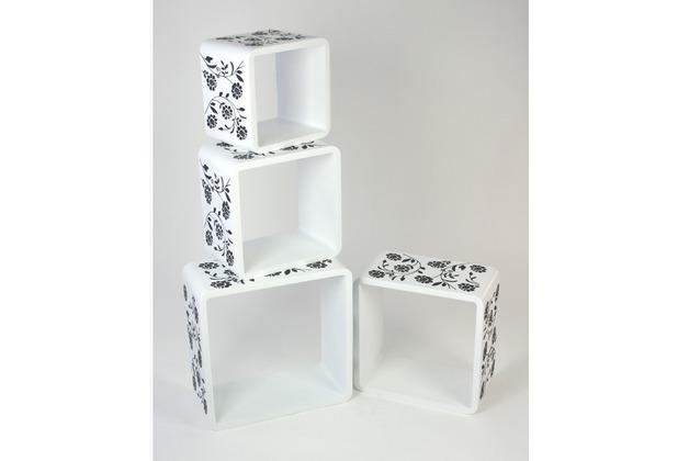 vcm 4 tlg regal cube h ngeregal wandregal stand m bel. Black Bedroom Furniture Sets. Home Design Ideas